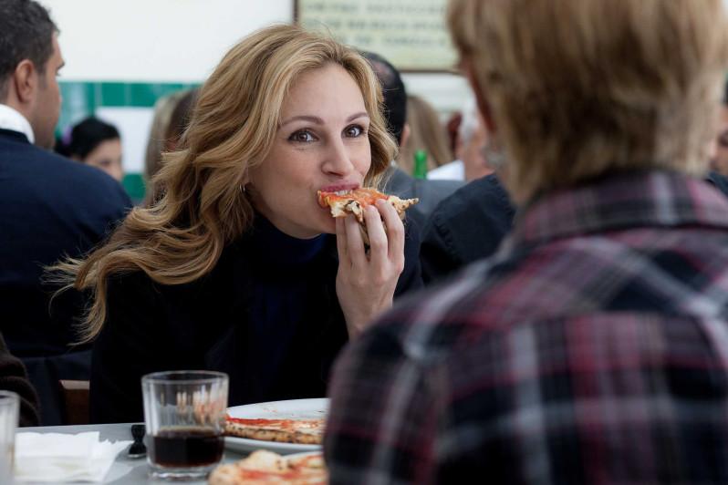 H Julia στην πιτσαρία Da Michele Photo credits :allmoviephoto.com