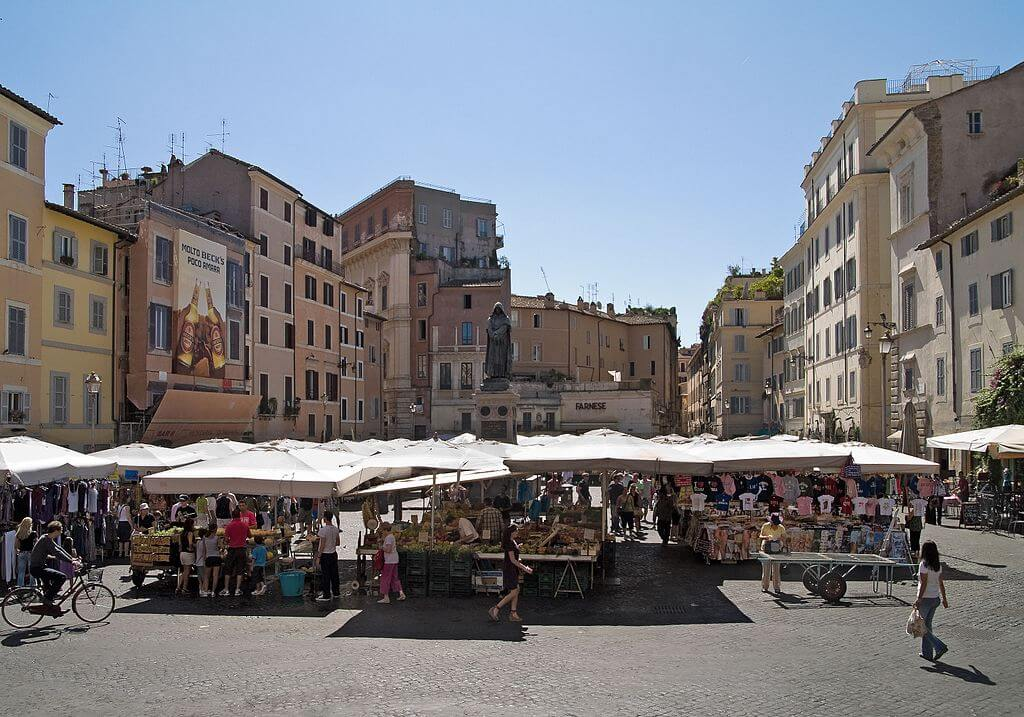 πλατεία campo dei fiori ρώμη