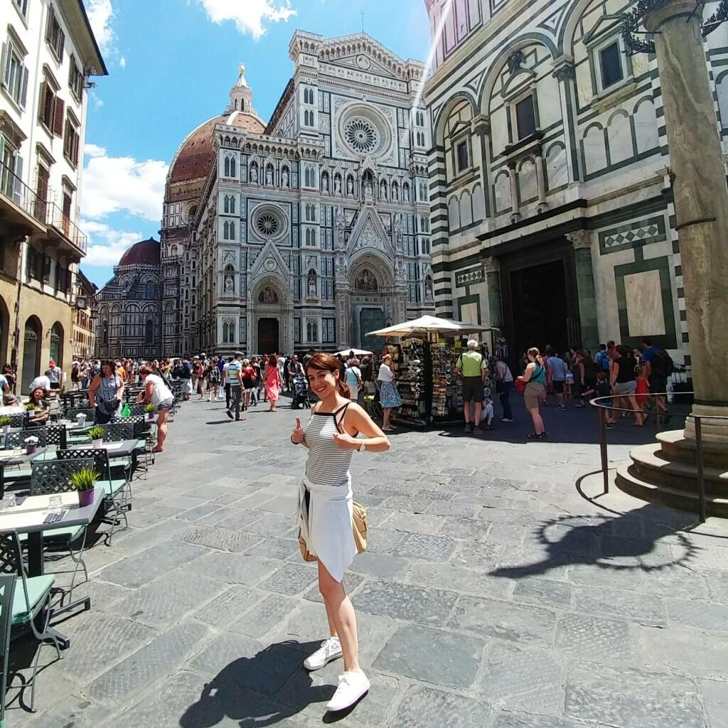In front of Duomo at Florence