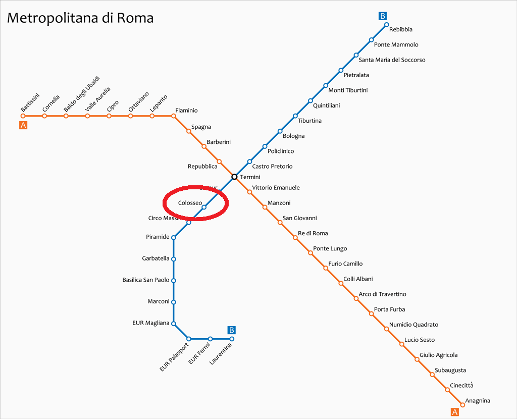 μετρό ρώμη κολοσσαίο