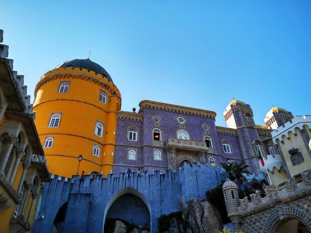 View of colourful Pena palace, Sintra, Portugal