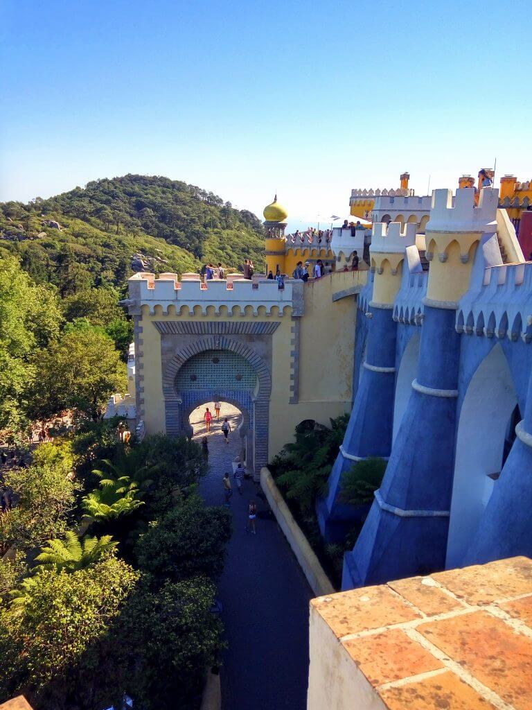 View of Pena palace, Sintra, Portugal