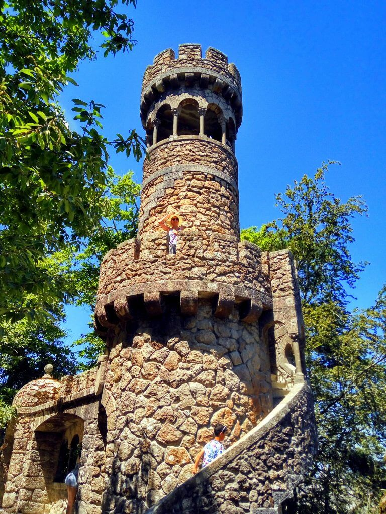A tower at Quinta da Regaleira
