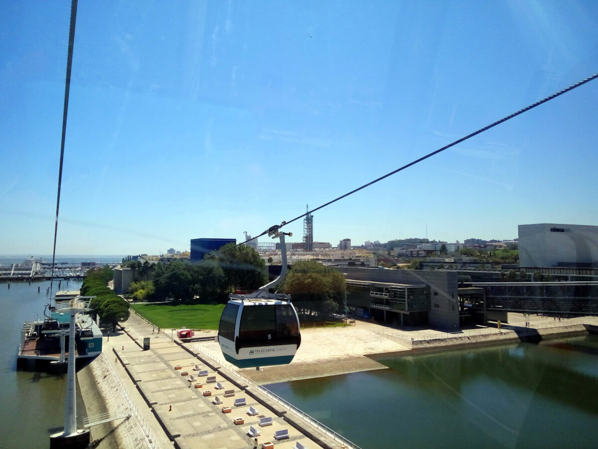 view from the cable car in lisbon