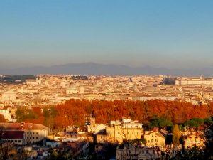 Ηλιοβασίλεμα στη Ρώμη, στο Τζανίκολο τον όγδοο λόφο της πόλης