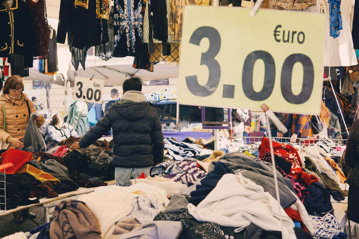 Offers at Porta Portese flea market in Rome