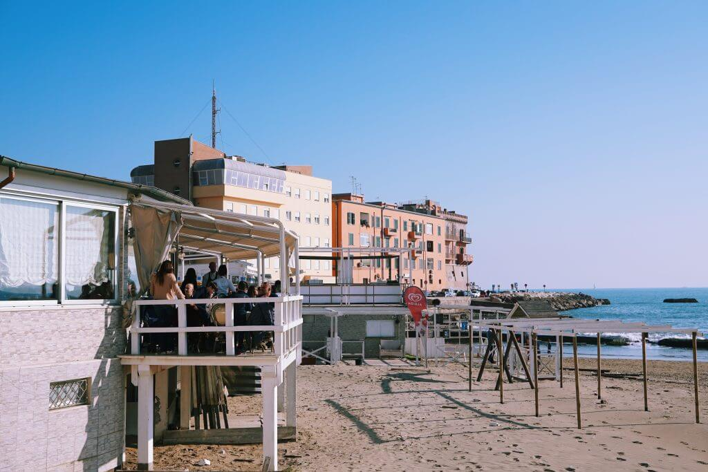 Restaurant with a great sea view, Anzio, Italy