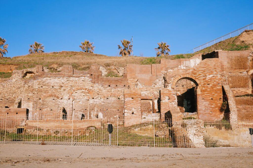 Ruins from Nerone's villa at Anzio Italy