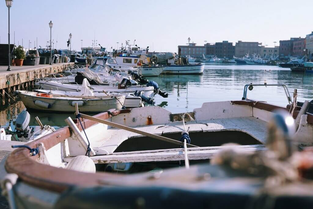 The port as seen during my day trip to Anzio from Rome