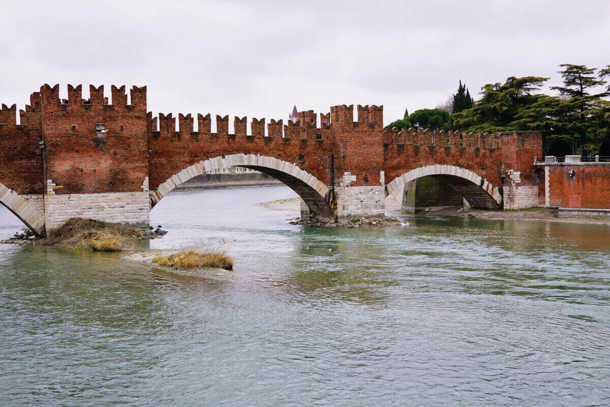 Bridge of Castelvecchio, in Verona Italy