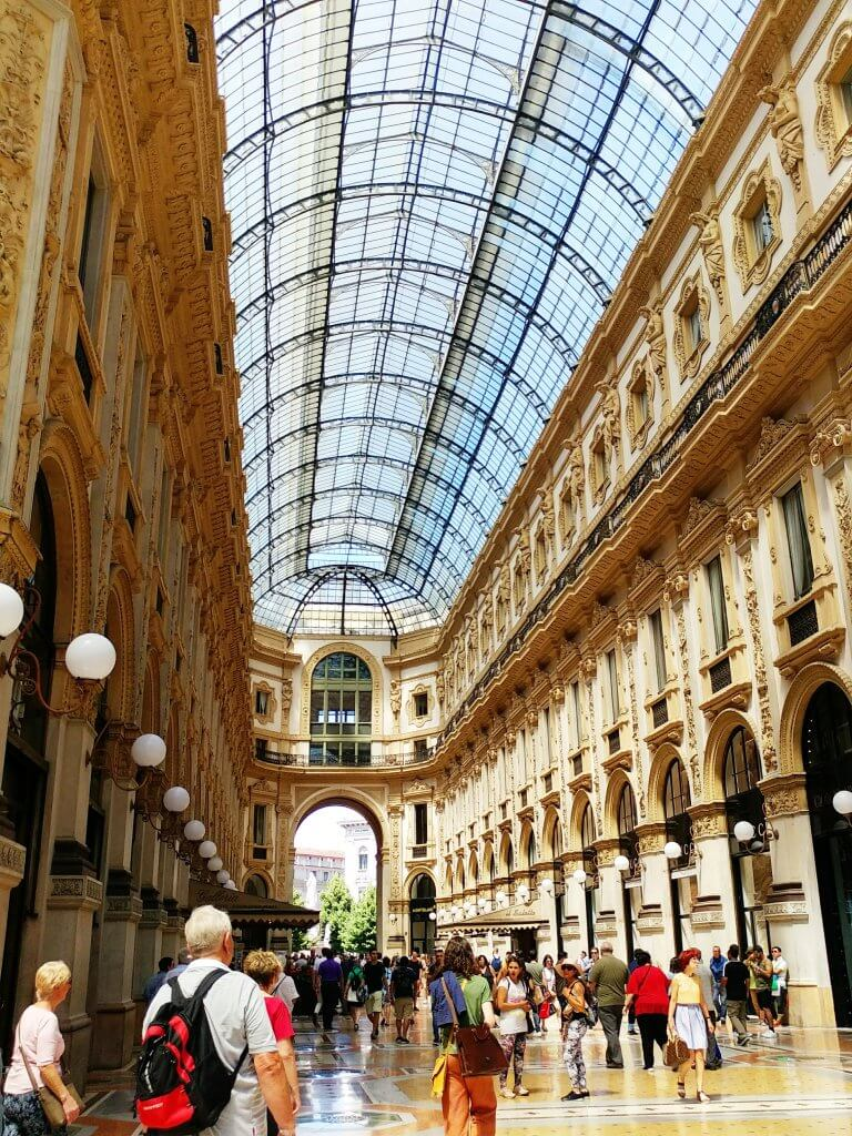 golden hour in galleria vittorio emanuele in milan