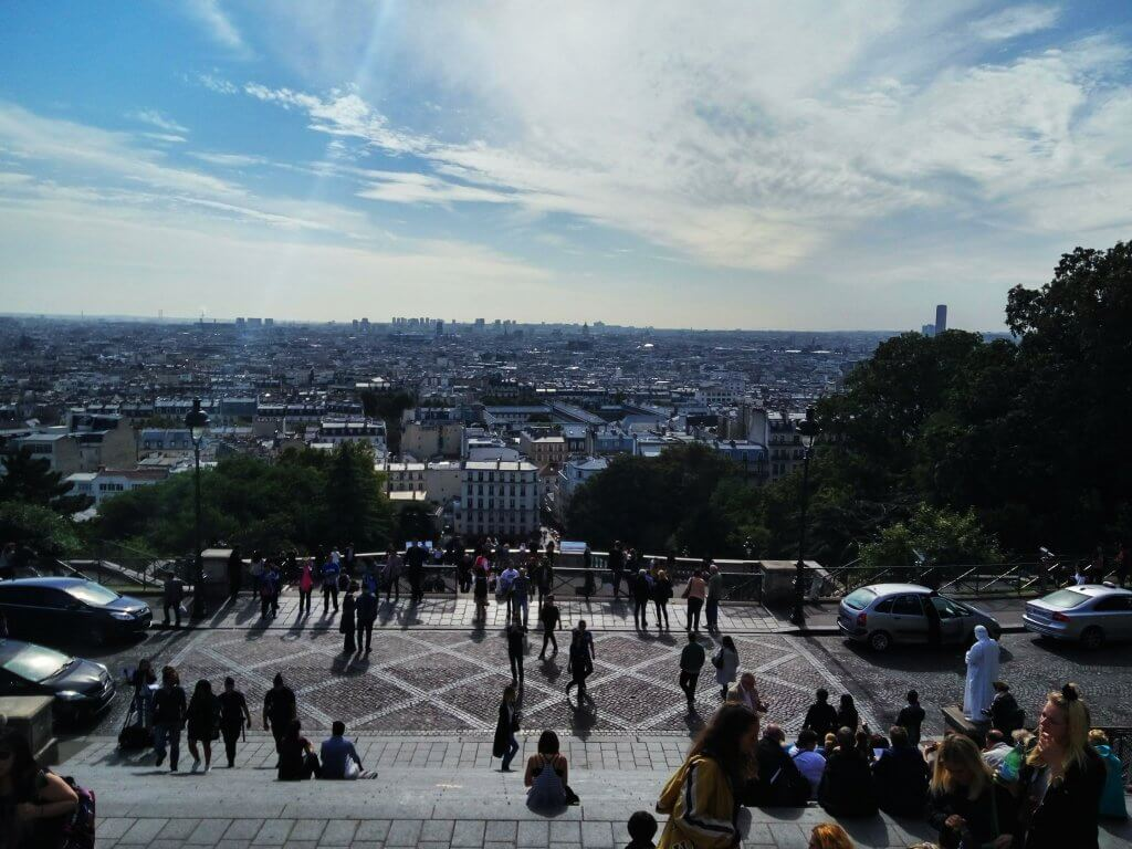 view from the church of montmartre in paris