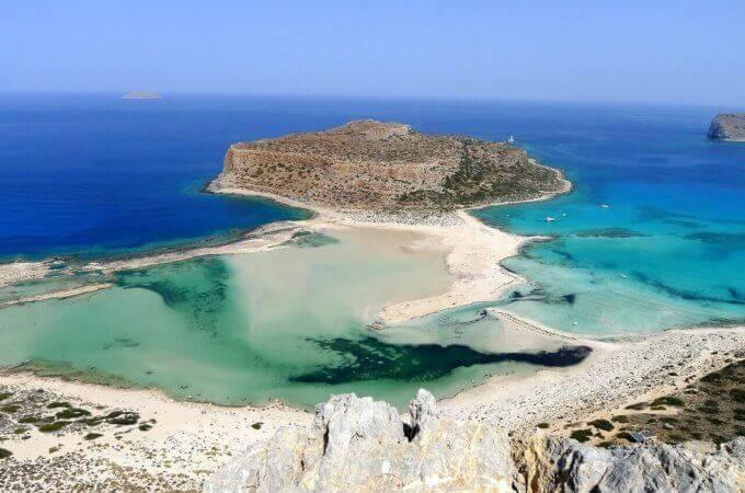 balos beach in crete
