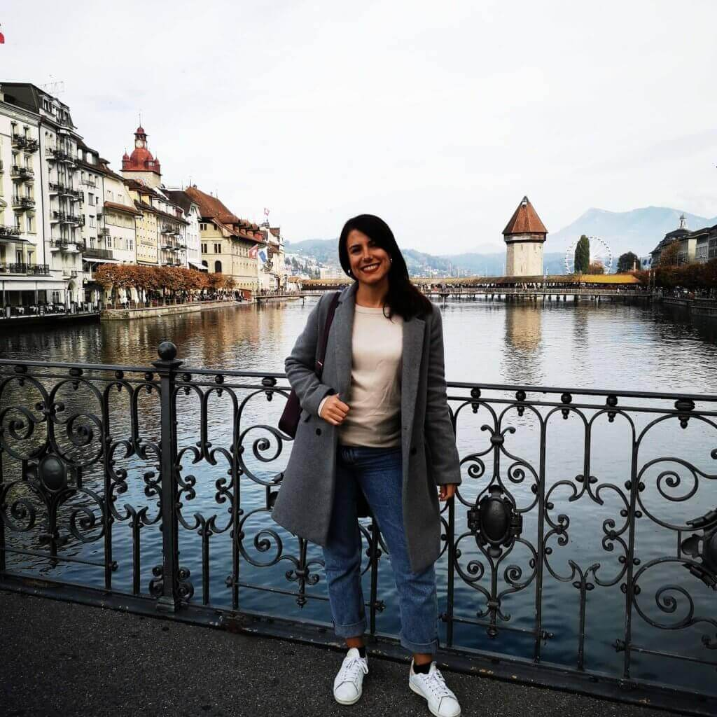 girl in lucerne, switzerland
