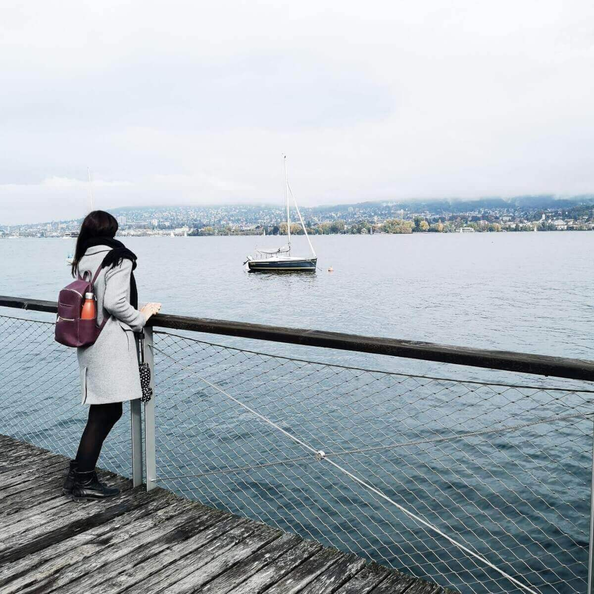 girl in lake zurich