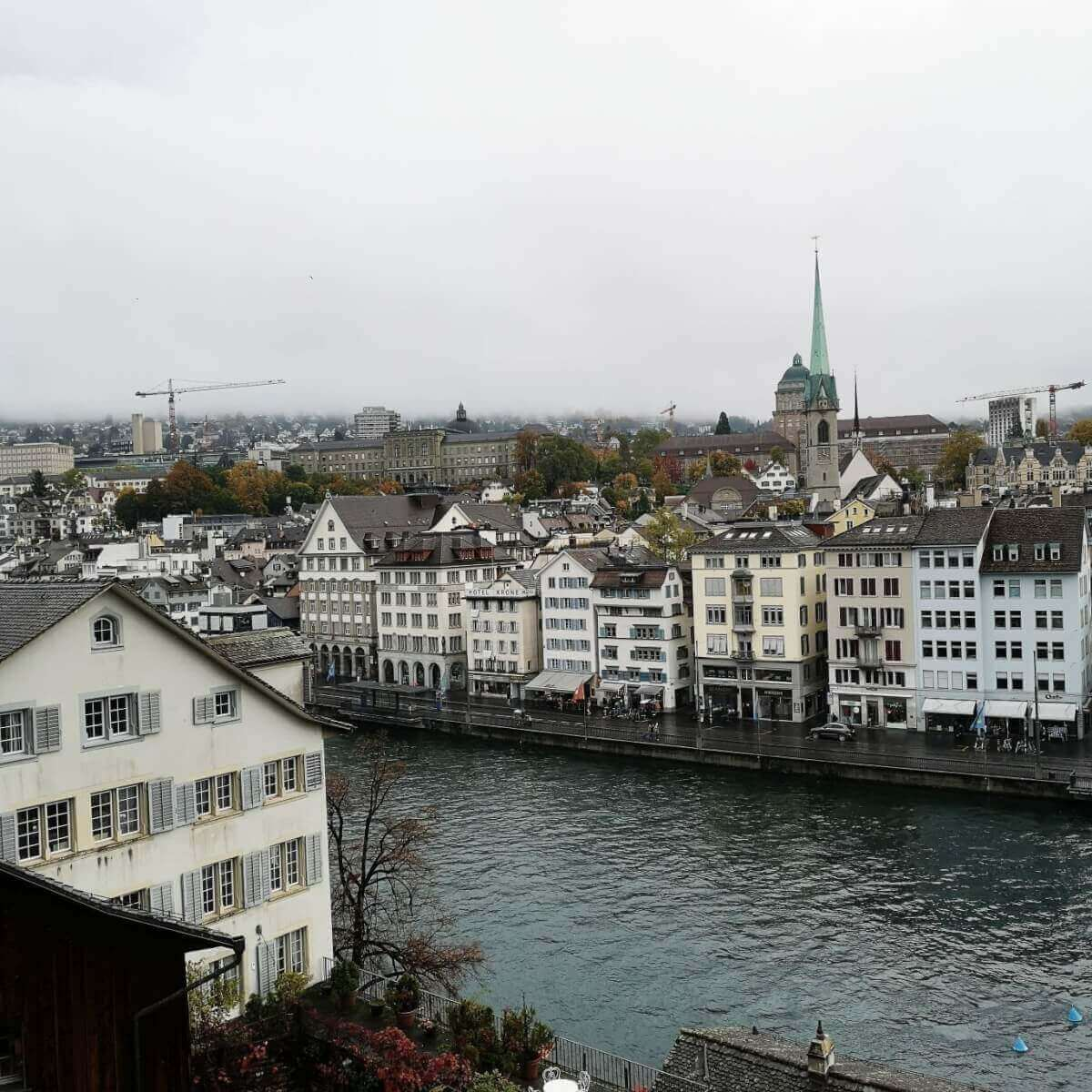 Lindenhof offers amazing views of Zurich