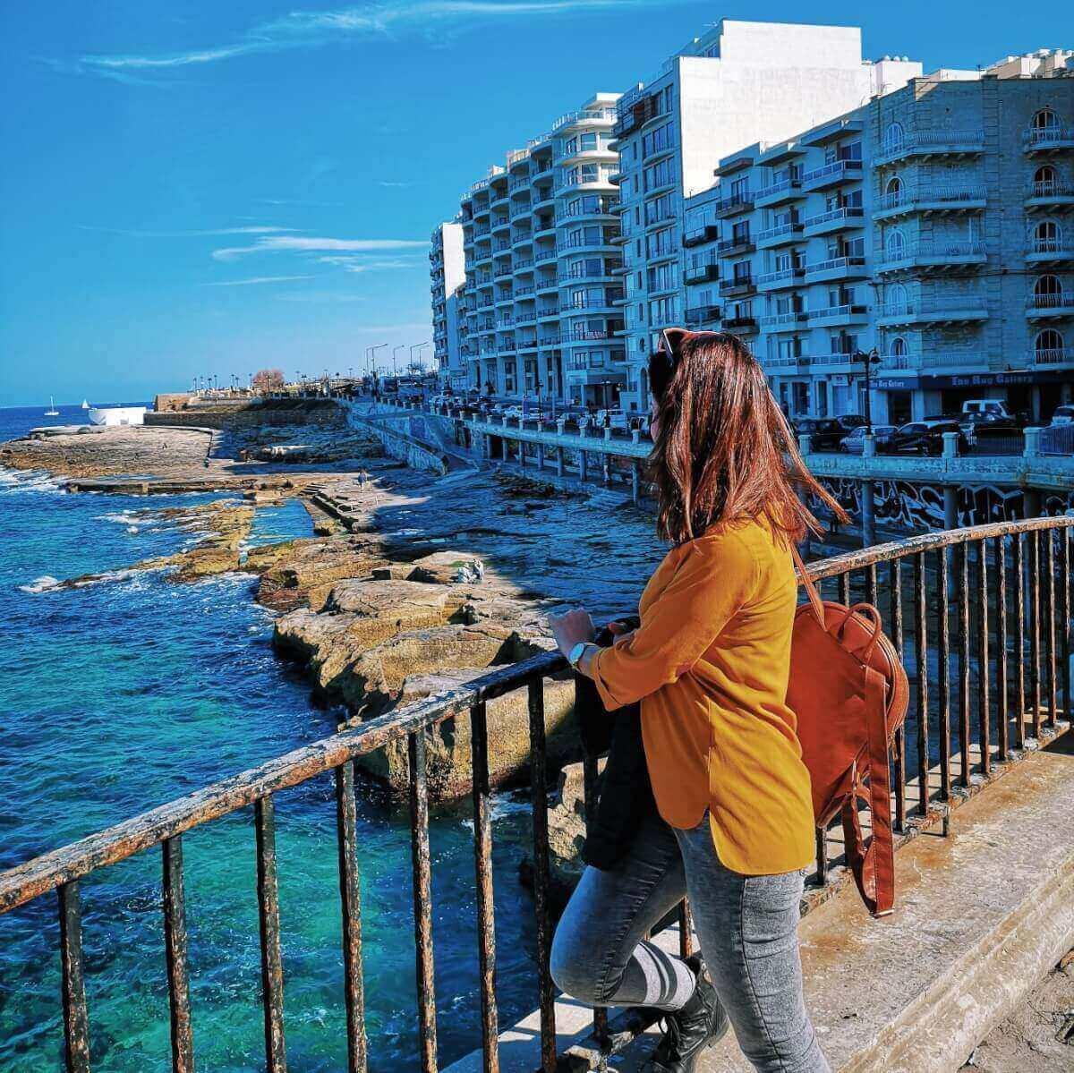 girl in Sliema, Malta