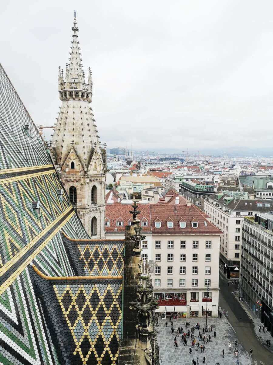 view from Stephansdom towe