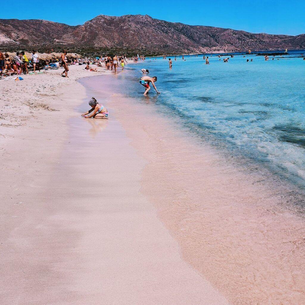 ροζ παραλία κρήτη