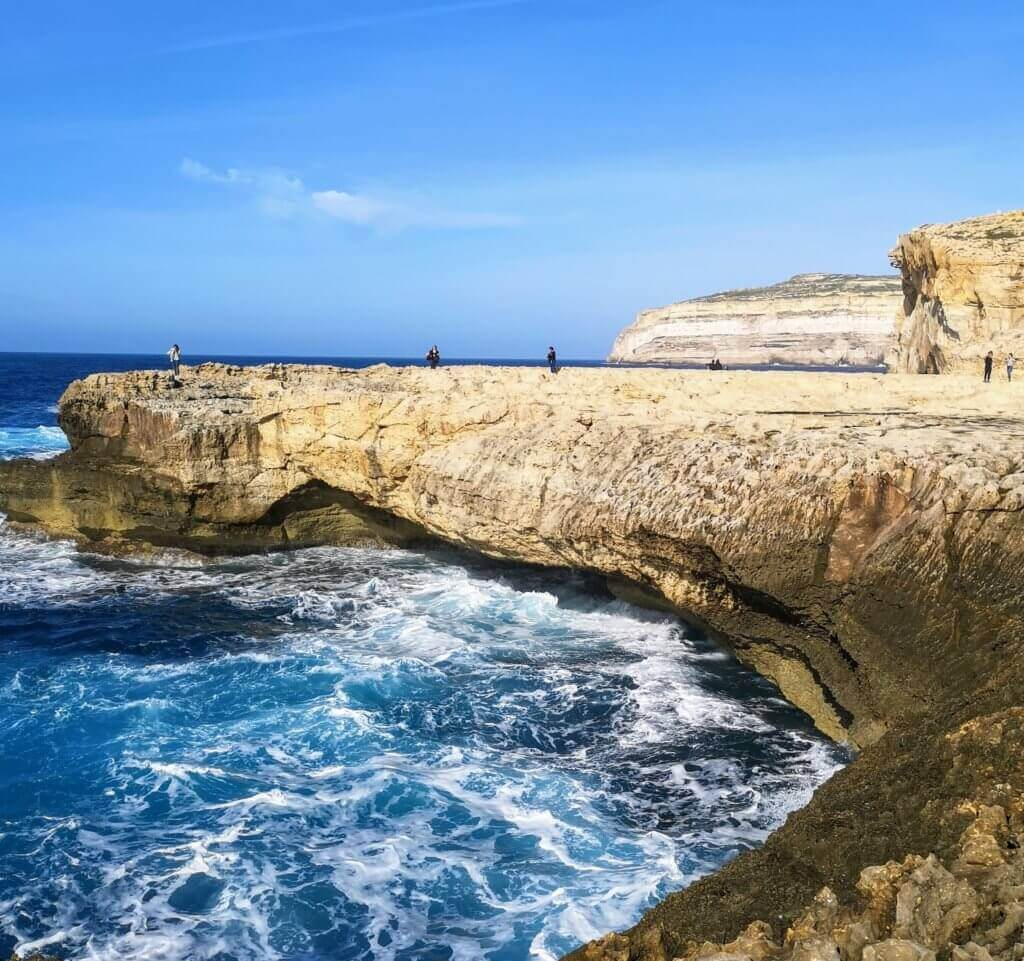 position of the azure window in gozo