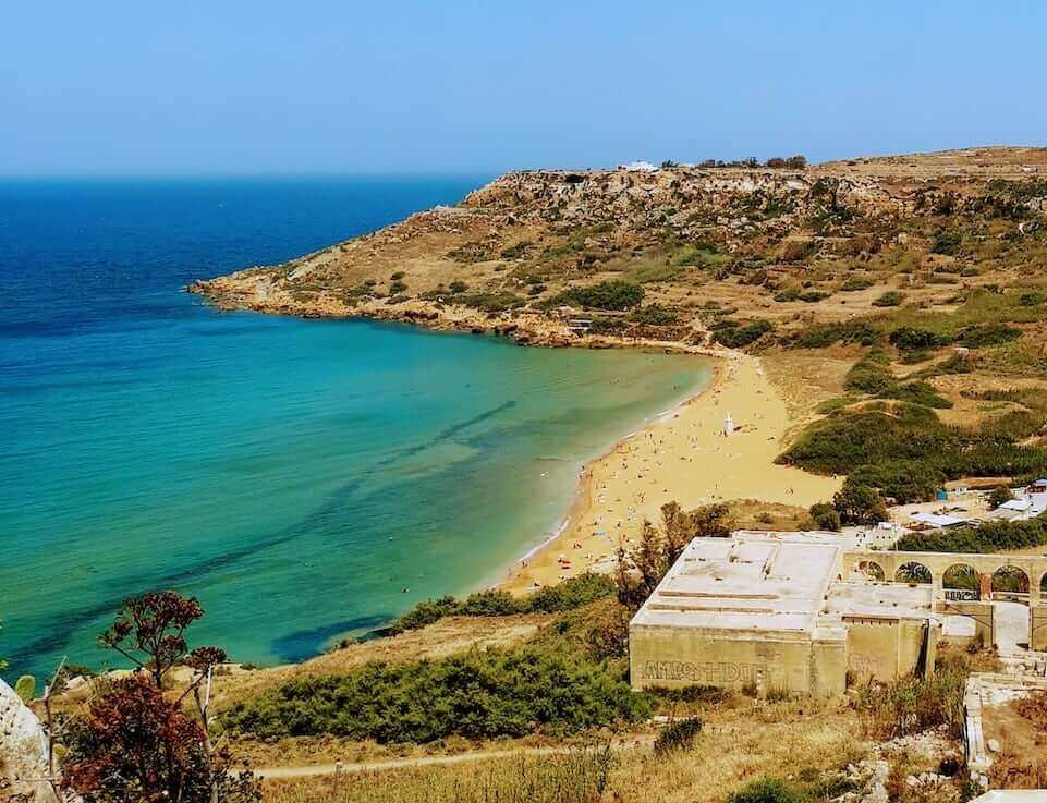 ramla bay in gozo