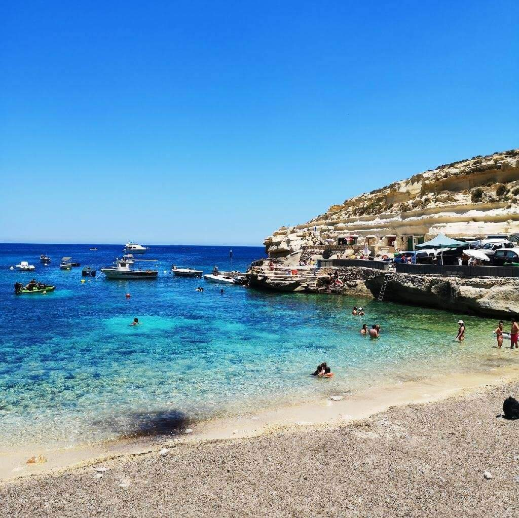Dahlet Qorrot Bay in Gozo